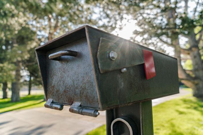 Custom steel mailbox