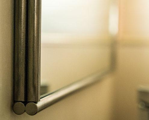 Steel mirror frame