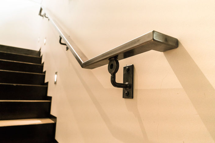 Hand rail and stairs
