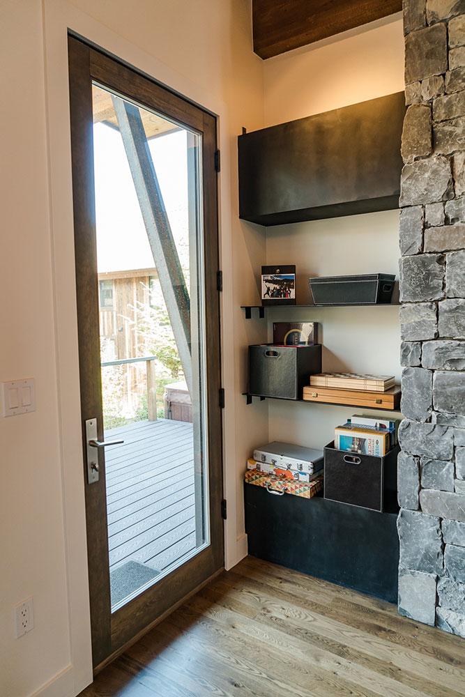 Living room shelves