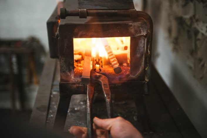 Heating steel in the forge
