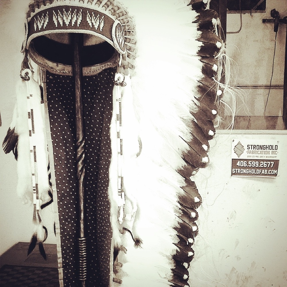 Steel stand for Indian headdress