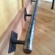 Hammered steel foot rest