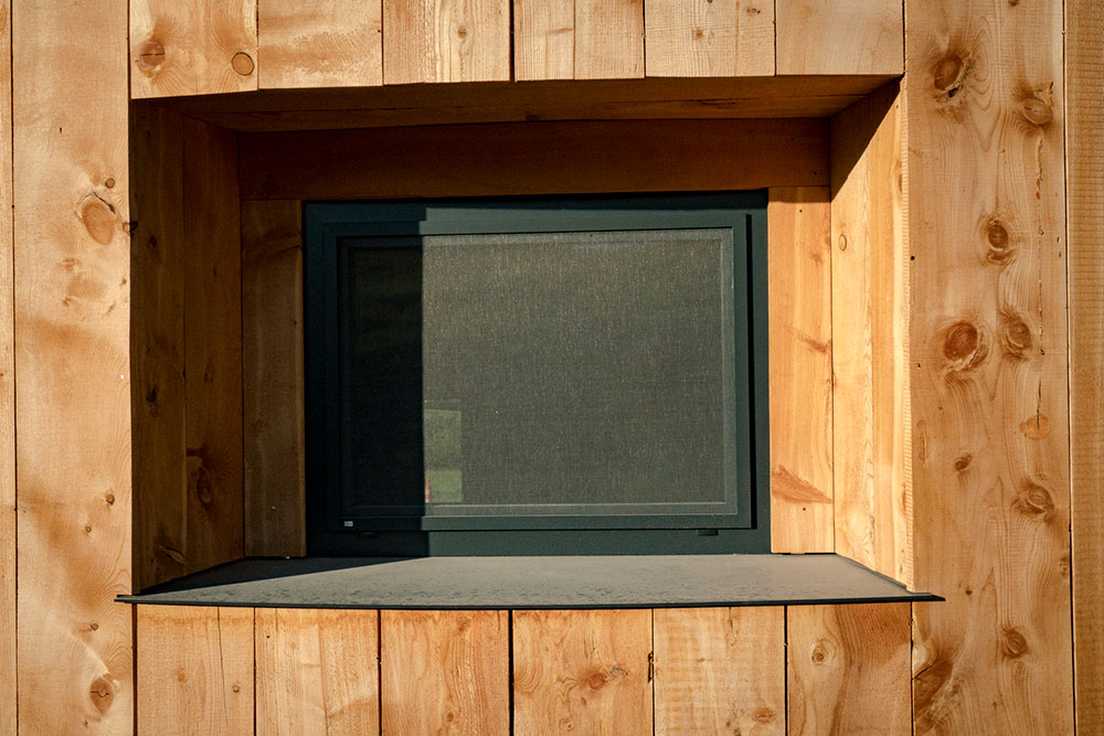 Steel window sill