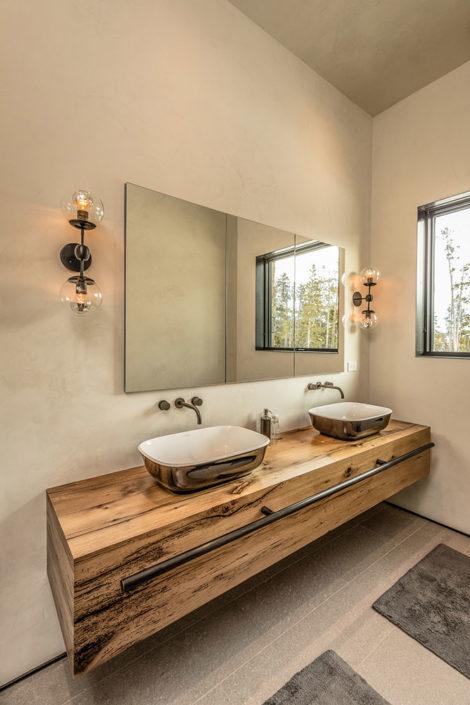 Bathroom vanity towel rack